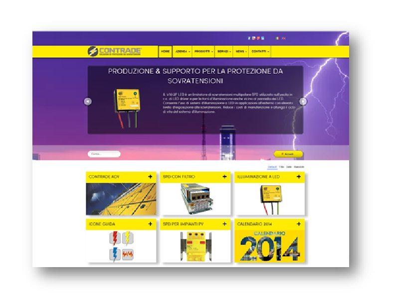 Sovratensioni elettriche-elettroniche. Contrade lancia nuovo sito web
