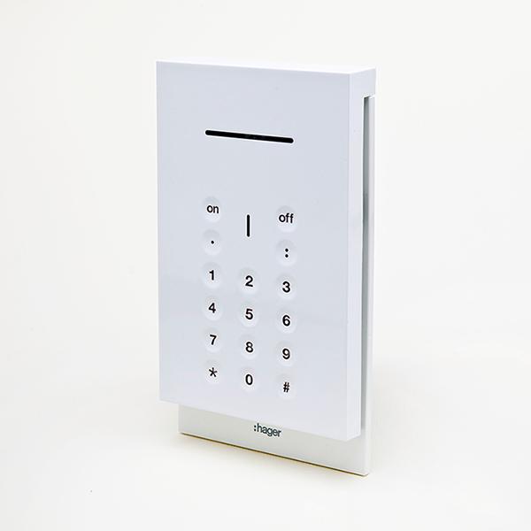Tastiera di comando sepio RLF620X di Hager sicurezza