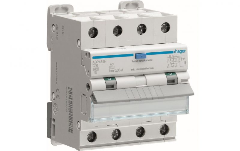 Impianto elettrico: gli interruttori magnetotermici differenziali di Hager