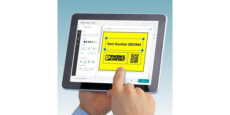 Etichettatura mobile con l'app Marking System di Phoenix Contact