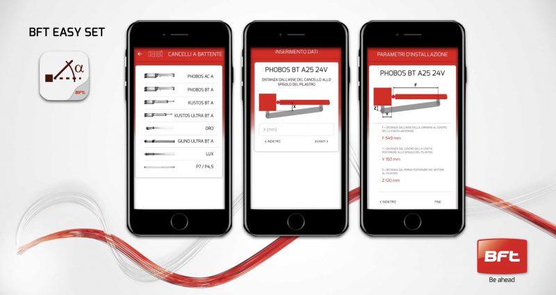 App Bft Easy Set facilita le installazioni dei cancelli a battente