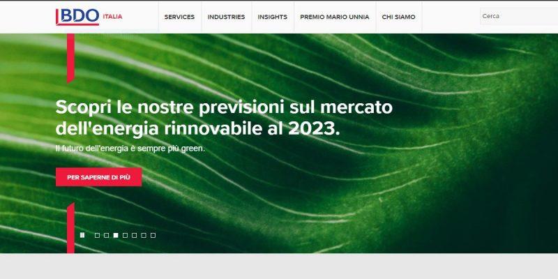 BDO conferma: il futuro dell'energia è sempre più green
