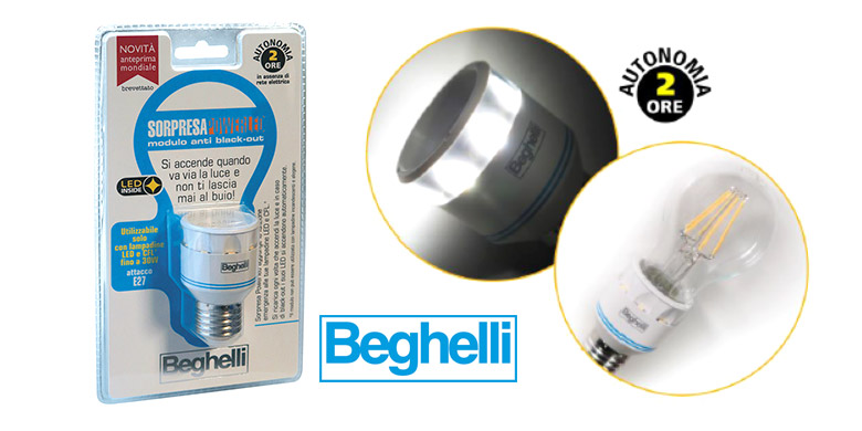 Sorpresa PowerLED Beghelli: il modulo anti black-out