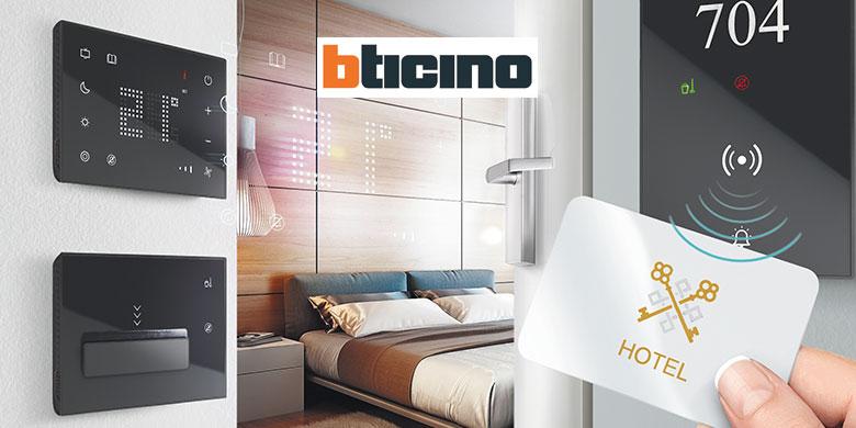 BTicino, offerta premium con interfacce touch per hotel