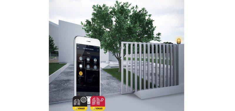 Anche il cancello diventa connesso con le nuove app di Vimar