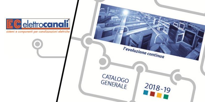 Elettrocanali, disponibile il nuovo Catalogo Generale 2018-2019