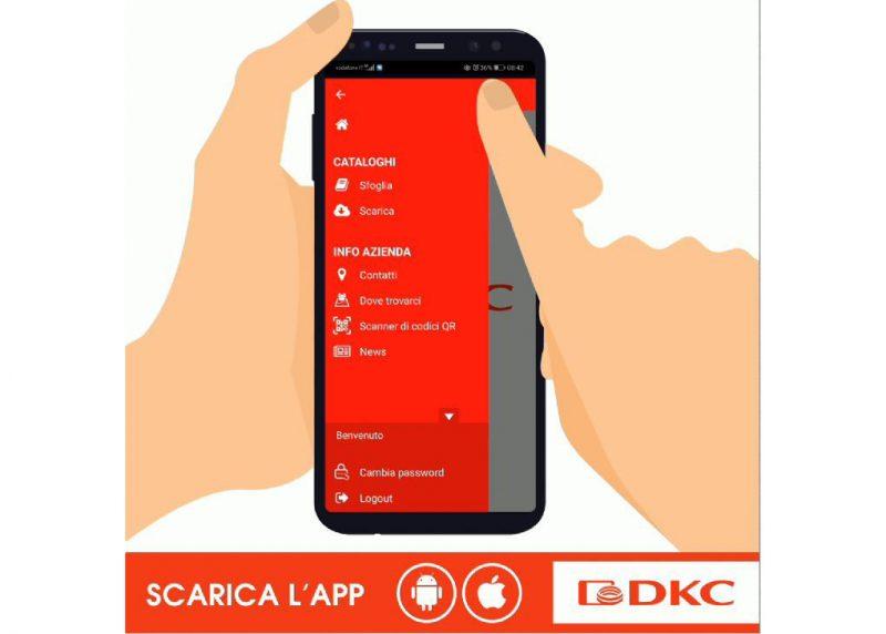App DKC dedicata alla consultazione dei cataloghi