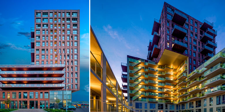 Residential Tower De Verkenner, Facciate scolpite dalla luce