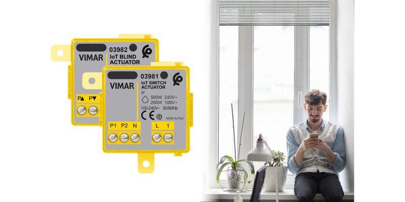 La serie di dispositivi connessi Vimar si amplia con tre nuovi prodotti