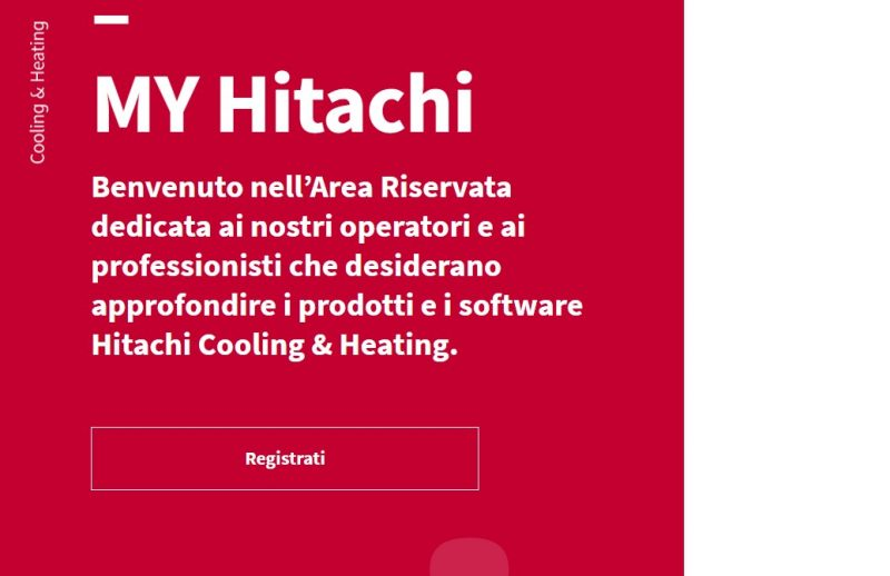 My Hitachi digital library dedicata al mondo della climatizzazione