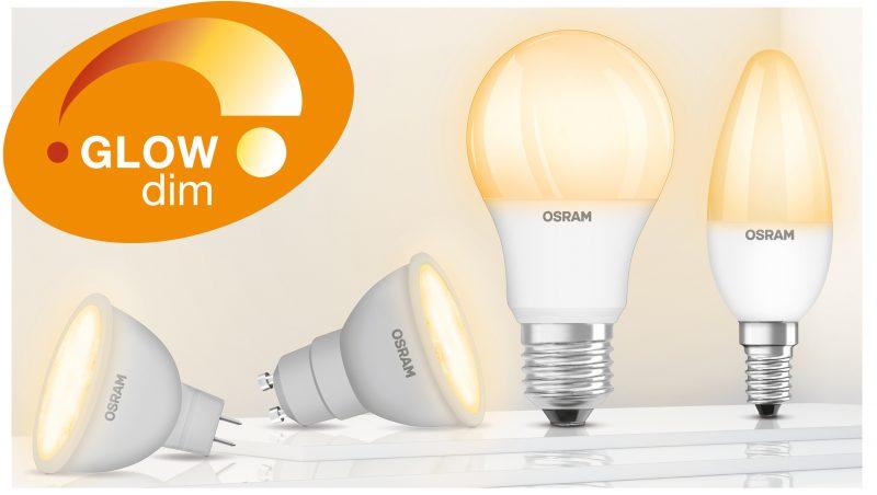 Gamma GlowDim, le innovative lampade Led di Ledvance