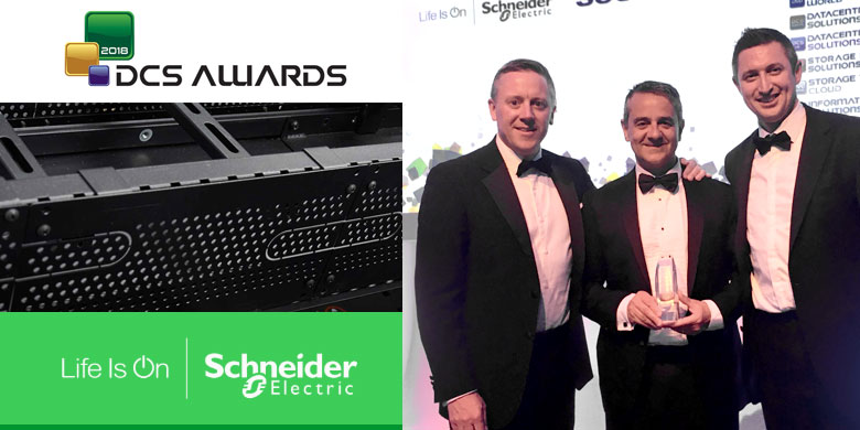 """Schneider Electric HyperPod, """"Innovazione dell'anno"""" ai DCS Awards 2018"""