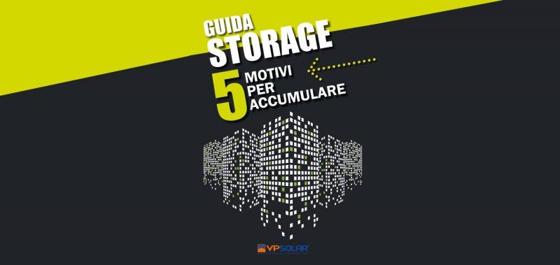 Guida Storage VP Solar: pubblicata l'edizione 9.0
