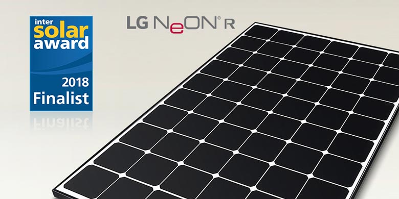 NeON R di LG Electronics in finale agli Intersolar Award 2018