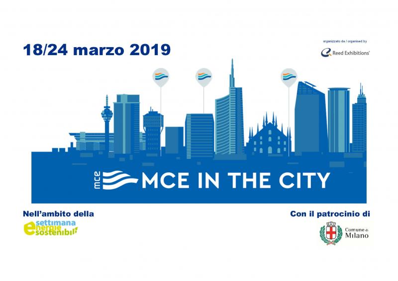 Ritorna MCE IN THE CITY a Milano dal 18 al 24 marzo 2019