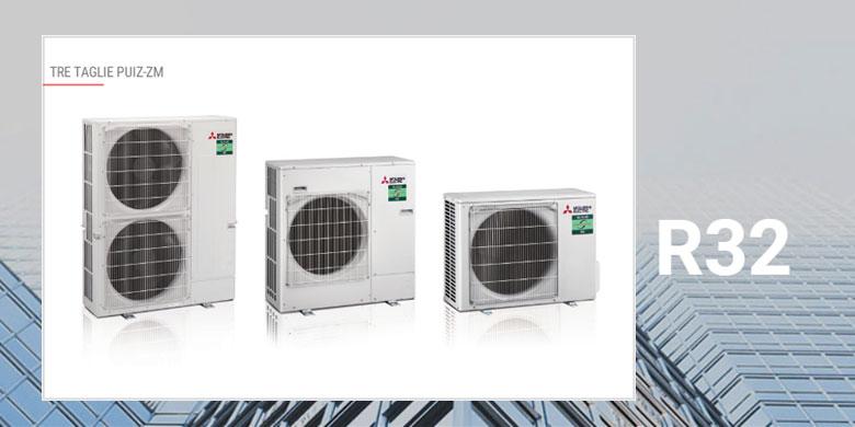 Mitsubishi Electric Power inverter con refrigerante R32