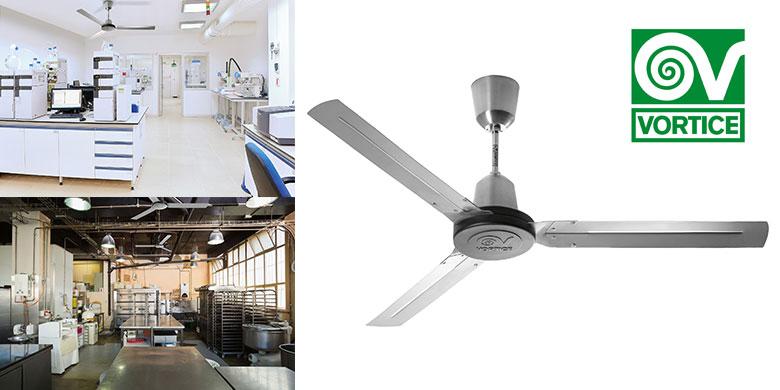 NORDIK HD ventilatori da soffitto ideali in condizioni ambientali particolari