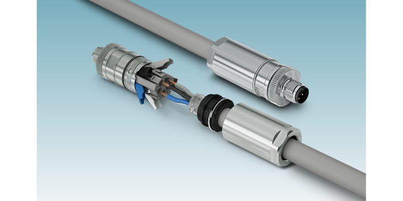 Connettori di potenza M12 Push-Lock: per un cablaggio senza attrezzi