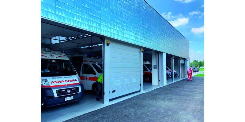 Scandiano: porte sezionali CAME Go per Croce Rossa e Protezione Civile