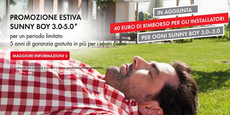 SMA Italia lancia la promozione estiva sulla linea SMA Sunny Boy