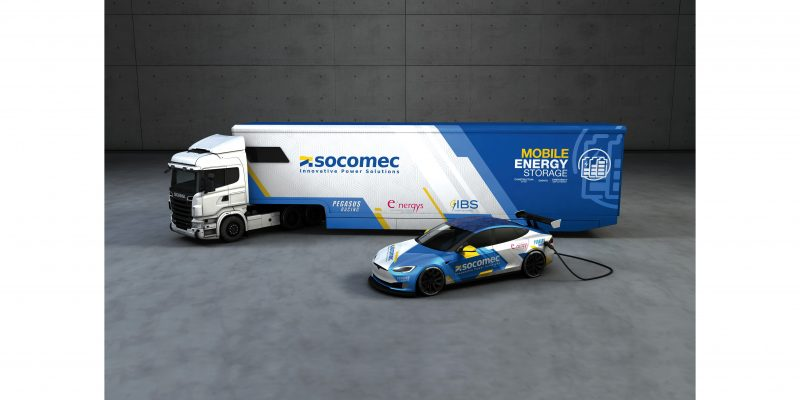 Socomec presenta e'car, la nuova soluzione mobile di stoccaggio dell'energia