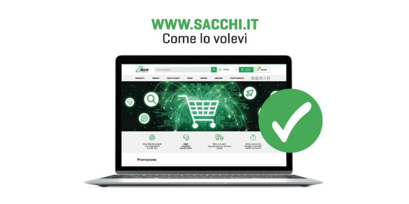Ora online il nuovo e-commerce del Gruppo Sacchi