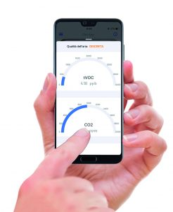 cronotermostato Dalì gestibile da remoto su smartphone