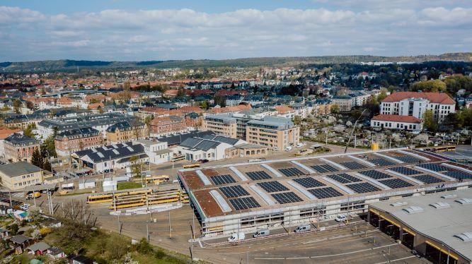 SMA produce energia verde per l'azienda tranviaria di Dresda