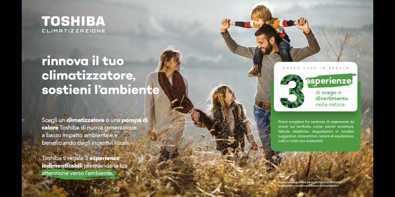 """""""Toshiba regala Green Experiences"""", la promozione ecosostenibile"""
