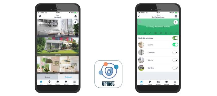 URMET SECURE un'app gratuita per monitorare a distanza tutti i sistemi antintrusione