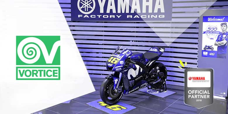 Motomondiale 2018: VORTICE è Official Partner di YAMAHA Motor Racing