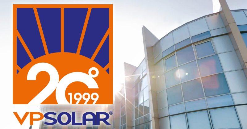 VP Solar 1999-2019: 20 anni di attività nelle energie rinnovabili