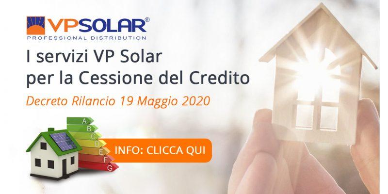 Attivati i nuovi servizi VP Solar per la cessione del credito 2020