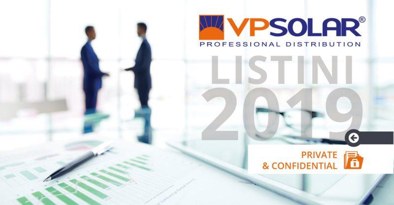 VP Solar rende noti i nuovi listini Q2 2019