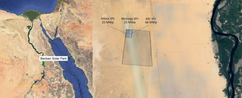 Enerray e Sinapsi in campo per tre progetti del Benban Solar Park