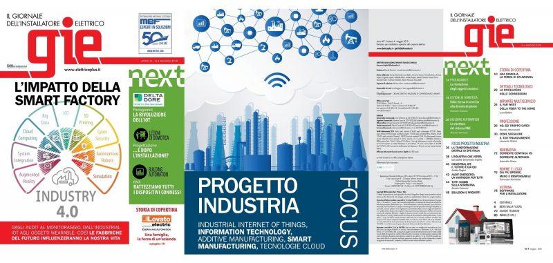Scopri la Smart Factory sul numero di maggio di GIE – Giornale dell'Installatore Elettrico