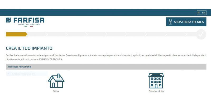 Farfisa offre gratuitamente online il nuovo configuratore del sistema Duo