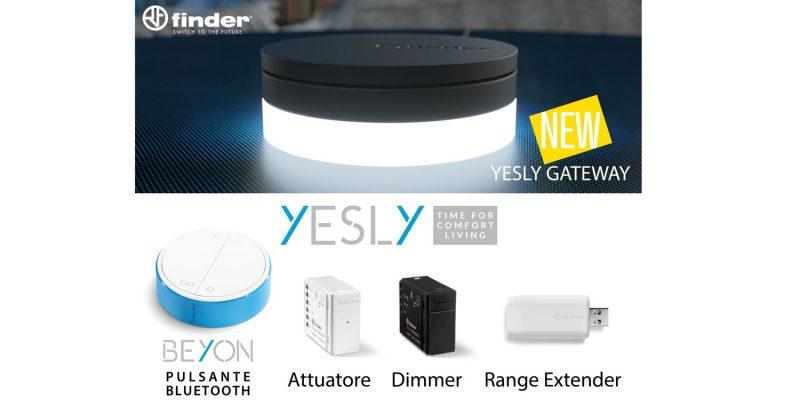 Finder Yesly: tutti i prodotti della gamma