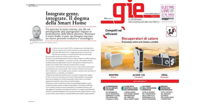 Leggi in anteprima il numero di marzo di GIE – Il Giornale dell'Installatore Elettrico