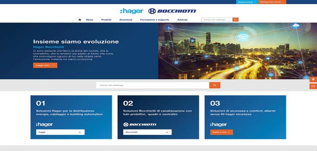 Nuovo sito web per Hager Bocchiotti