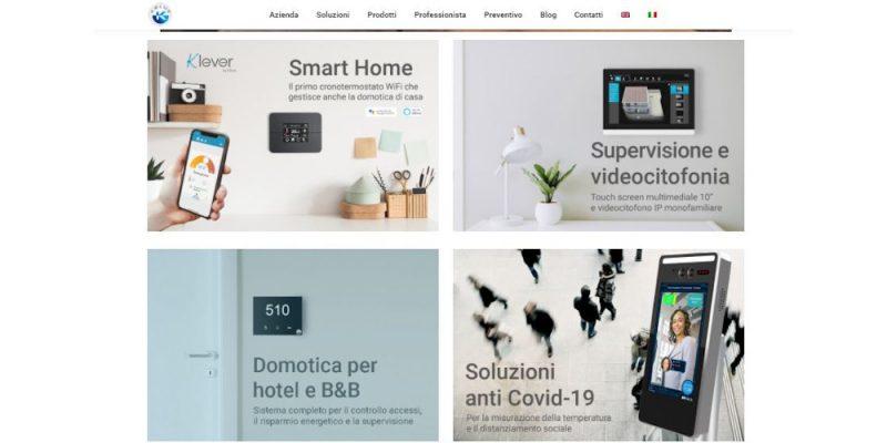 Nuovo look per la homepage del sito Kblue