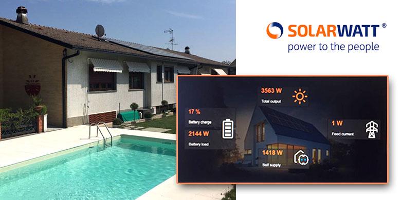 moduli batteria Solarwatt per ottimizzare l'autoconsumo fotovoltaico