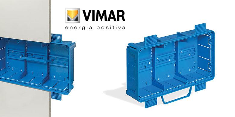 Vimar, nuove scatole di derivazione da incasso per le pareti leggere