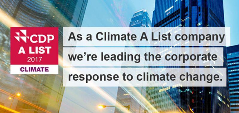 Premiato l'impegno di Schneider Electric nella lotta contro il cambiamento climatico