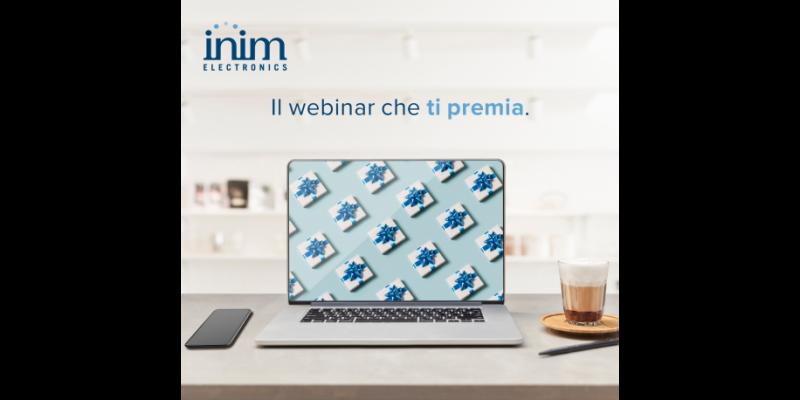 Inim Electronics: webinar di formazione gratuita che, in più, ti premiano